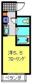 YOKOHAMA BAY HILLS2階Fの間取り画像