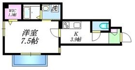 CREST TWO1階Fの間取り画像