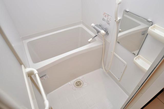 CASSIA高井田NorthCourt ちょうどいいサイズのお風呂です。お掃除も楽にできますよ。