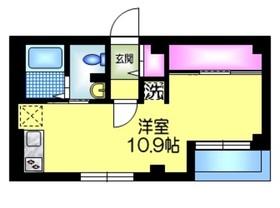 K館5階Fの間取り画像