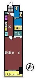ライジングプレイス船橋宮本1階Fの間取り画像