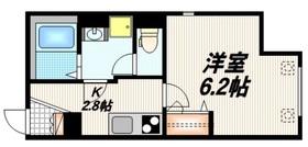 L'amitie Kitasenjyu1階Fの間取り画像