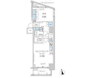 パークアクシス東上野4階Fの間取り画像