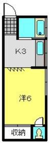 オリオンハイツ2階Fの間取り画像