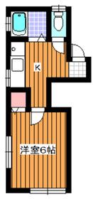 下赤塚駅 徒歩6分1階Fの間取り画像
