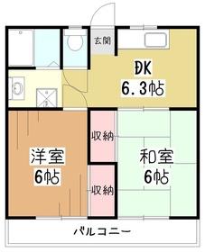 久米川グリーンハイツ1階Fの間取り画像
