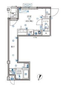グレイスヒルズ横浜5階Fの間取り画像