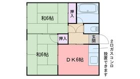 清風荘2階Fの間取り画像