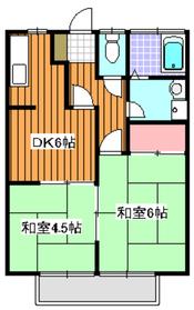 メゾンドール2階Fの間取り画像
