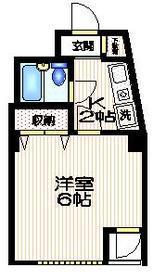 K方南ビル2階Fの間取り画像
