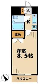 ストークドサンヒル1階Fの間取り画像