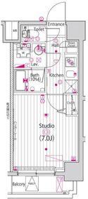 ガーラ・ステージ横濱関内8階Fの間取り画像