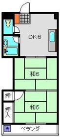 ヨコヤマコーポⅡ3階Fの間取り画像