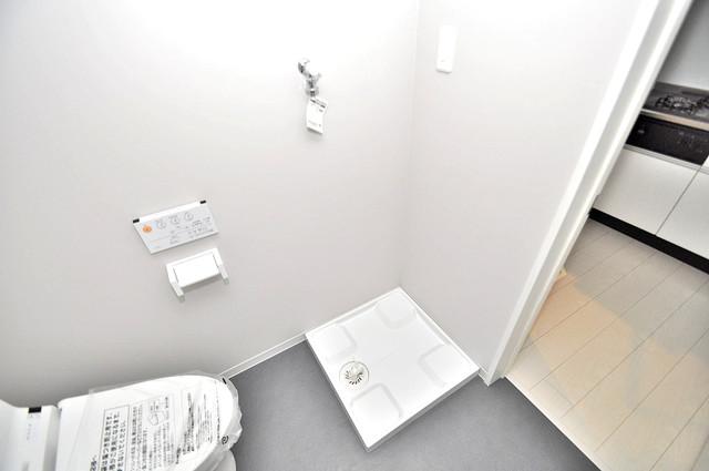 Valenti小阪 嬉しい室内洗濯機置場。これで洗濯機も長持ちしますね。
