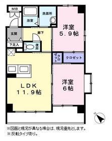Chez-soi2階Fの間取り画像