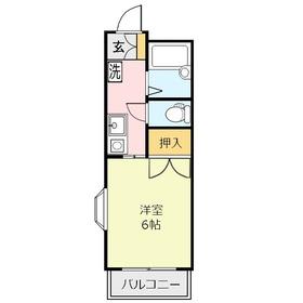 オーク上福岡1階Fの間取り画像