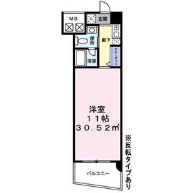 ティラヴェント北梅田7階Fの間取り画像