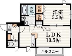 MAISON CHARITE2階Fの間取り画像