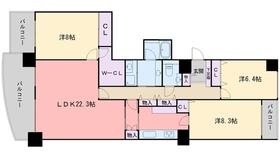 クリスタージュ壱番館12階Fの間取り画像