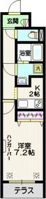 ジェネス南大塚1階Fの間取り画像