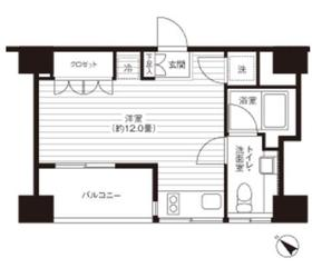 Ti-HIGASHIAZABU8階Fの間取り画像