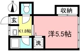 桝谷荘2階Fの間取り画像