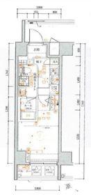 VERXEED横濱WESTⅡ8階Fの間取り画像