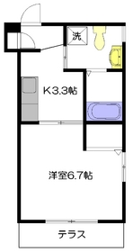 HANOVER NAKANO1階Fの間取り画像