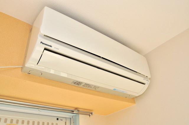 ロータリーマンション永和 エアコンがあるのはうれしいですね。ちょっぴり得した気分。