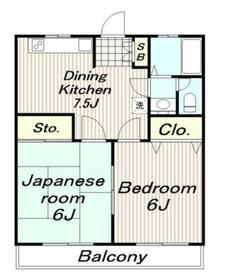 かみやマンション3階Fの間取り画像