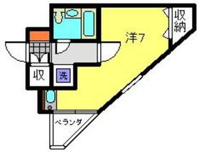 コーポOGAWA4階Fの間取り画像