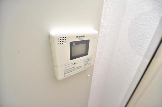 ロイヤル加美北 給湯リモコン付。温度調整は指1本、いつでもお好みの温度です.
