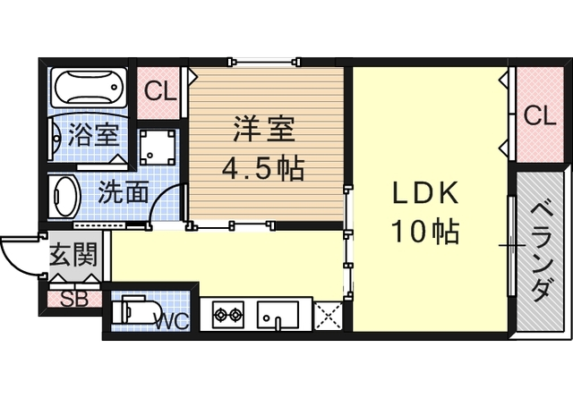 2階の間取り図