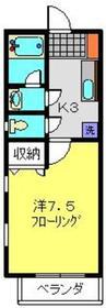 リヴェールTK2階Fの間取り画像