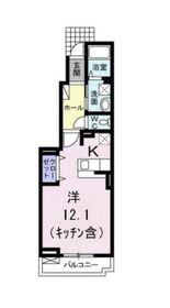 エクリューイ1階Fの間取り画像