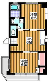 成増駅 徒歩6分4階Fの間取り画像