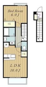 ラ・ヴィダ・カリファス2階Fの間取り画像