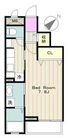 フォンターナII3階Fの間取り画像