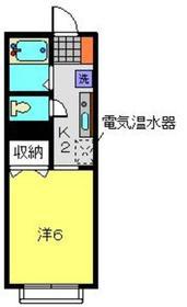 スカイコーポⅠ1階Fの間取り画像