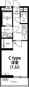 リブリ・Crest Yanagisaki1階Fの間取り画像