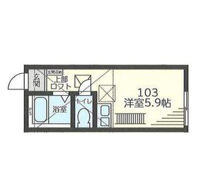 IDEA川崎矢向2階Fの間取り画像