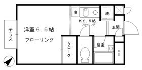 サニーヒル石神井1階Fの間取り画像