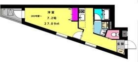 b'CASA R3階Fの間取り画像