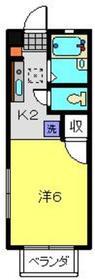 パルサ星川1階Fの間取り画像