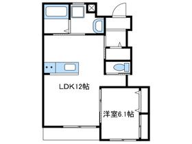 (仮)今里新築アパート1階Fの間取り画像
