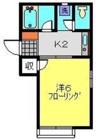 ブリリアント南太田2階Fの間取り画像