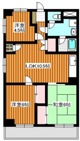 志村坂上駅 徒歩4分2階Fの間取り画像