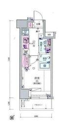 リヴシティ横濱宮元町3階Fの間取り画像