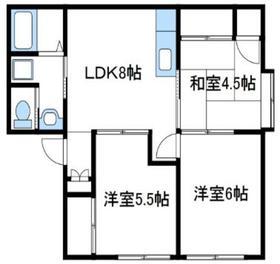 コスモタカハシ2階Fの間取り画像