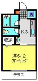アビタシオンM堀ノ内B棟1階Fの間取り画像